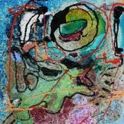 tableau abstrait matiere mouvement poetique : Ile Marie