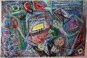 tableau abstrait matiere mouvement poetique : Flânerie