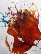 tableau abstrait mouvement poetique : Automne en pente douce 2