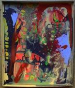tableau abstrait couleurs vives mouvement poetique : Voyage,voyage