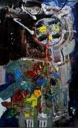 tableau abstrait matieres reliefs mouvement poetique : 1er avril
