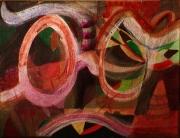 tableau personnages lunettes multicolore couleurs argentor mouvement : Coco bel oeil