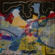 tableau abstrait design poetique : Nonet 6