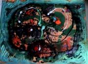 tableau personnages matieres iridescence poetique : Tête au carré