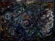 tableau abstrait relief matiere perles poetique : Coriolis