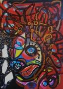tableau abstrait matiere mouvement poetique : Iroquois