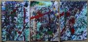 tableau abstrait matiere lignes poetique : Hautaines métropoles