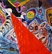 tableau abstrait mouvement poetique : L'ego est lent