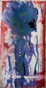 tableau abstrait mouvement poetique : Lady bluesy