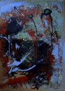 tableau abstrait mouvement matiere poetique : Magmatitude