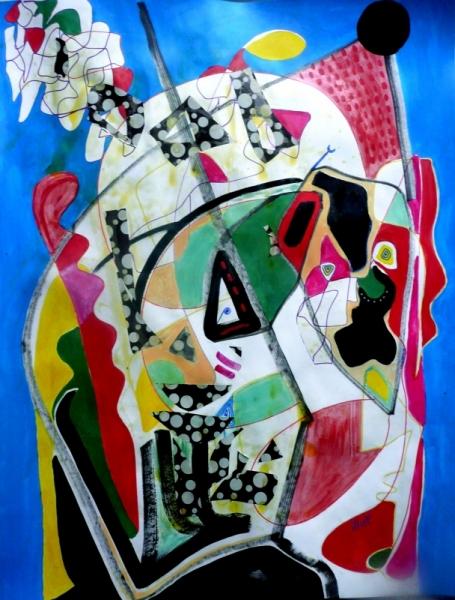 TABLEAU PEINTURE Mouvement Poétique Abstrait Acrylique  - Secrète automne