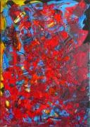 tableau abstrait mouvement poetique : Bleue comme une orange