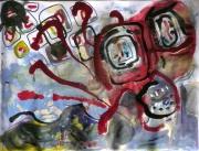 tableau abstrait poetique : Mars à trac