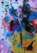 tableau abstrait matiere mouvement poetique : Ombilic 2
