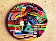 autres abstrait rond abstrait multicolore design : Rond d'Isa