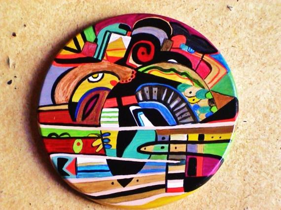 AUTRES rond abstrait multicolore design Abstrait  - Rond d'Isa