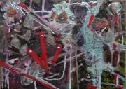 tableau abstrait matiere mouvement poetique : Les échaffaudés