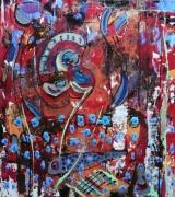 tableau abstrait matiere mouvement poetique : Marcelle d'Armorique
