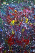 tableau abstrait energie mouvement poetique : Into the wild
