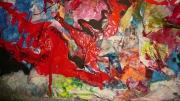 tableau abstrait matiere relief poetique : Gasoil