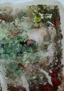 tableau abstrait matieres paysage poetique : Corail