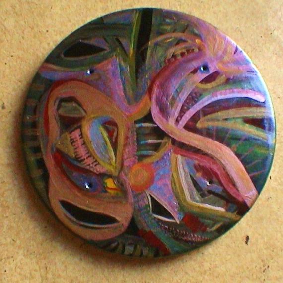AUTRES imaginaire couleurs+or et argen rond différentes vue poétique Abstrait  - Rond'anis