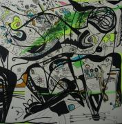 tableau abstrait graphisme mouvement poetique : Gribouillatre