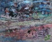 tableau abstrait matiere mouvement poetique : Solitude zélée