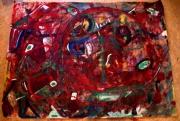 tableau abstrait matiere mouvement poetique : Lost in space