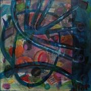 tableau abstrait mouvement poetique : Palsambleu