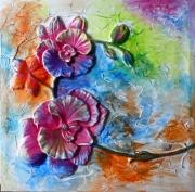 tableau fleurs matiere mouvement poetique : Flashy flowers