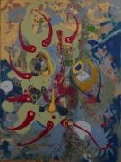 tableau abstrait matiere mouvement poetique : Ode aux ides