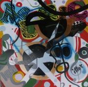 tableau abstrait mouvement poetique : ZicMu