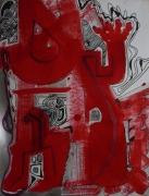 tableau abstrait graphisme mouvement poetique : Kuku