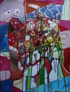 tableau abstrait mouvement poetique : Grange neuve