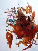 tableau abstrait mouvement poetique : Automne en pente douce
