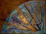 tableau abstrait iridescence mouvement poetique : Aile de bise