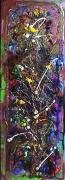 tableau fleurs reflets reliefs energie poetique : Cartouche floral