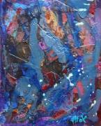 tableau abstrait matiere mouvement poetique : Marinage