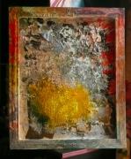 tableau abstrait matiere poetique : Origine