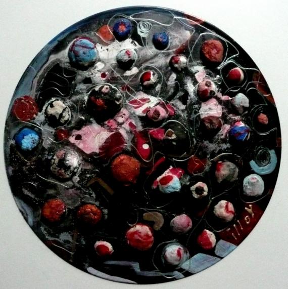 TABLEAU PEINTURE Matière Mouvement Poétique Abstrait Acrylique  - Des mûres et des pas vertes