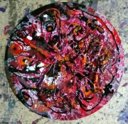 tableau abstrait matiere mouvement poetique : Sévillanne