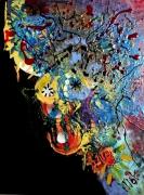 tableau abstrait matiere poetique : Fougueuse
