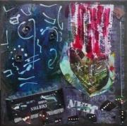 tableau abstrait matiere mouvement poetique : Le jean de Jean