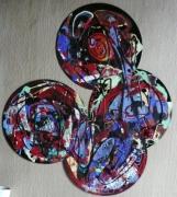 tableau abstrait matiere mouvement poetique : La quadrature du cercle