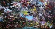 tableau abstrait matiere mouvement poetique : Le fond du gouffre