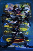 tableau abstrait mouvement personnage reliefs poetique : Stone dance