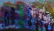tableau abstrait matiere mouvement poetique : Les enchantés