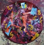 tableau abstrait matiere mouvement poetique : L'élan aux semelles de plomb