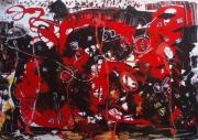 tableau abstrait matiere mouvement poetique : Joyeuse folie